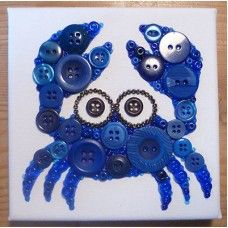 Button Art Crab