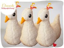 Ebook: Nähanleitung und Schnittmuster für ein entzückendes Küken: Huhn, Vogel, Pfau oder doch ein Truthahn?