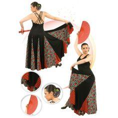 Vestido de baile #Flamenco con ocho palas, ocho godets y vuelo de tres capas...personalizalo tu misma eligiendo colores y tejidos !!