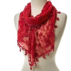 Add a touch of romance to your favorite outfit with a beautiful Coral Lace Scarf. We think it goes with just about anything!