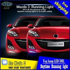 139.83$  Buy here - http://ali8j1.shopchina.info/go.php?t=32747646222 - Free shipping,for 11 - 13 MAZDA 3 LED DRL cover  fog lamp assembly belt led daytime running lights for M3 139.83$ #aliexpresschina