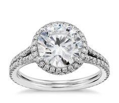 Halo Diamond Engagement Ring in Platinum (1/2 ct. tw.)