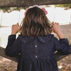 DRESS / DENIM – Grace Baby&Child Winter Wardrobe, Peter Pan, No Frills, Cute Dresses, Perfect Fit, Cold Shoulder Dress, Child, Denim, Baby