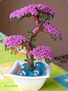 Árbol de los bonsai Topiary rebordea el mini Beads