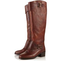 Deer Buckle Cuff High Leg Boots