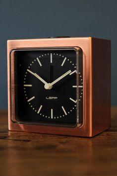 Leff Amsterdam Block Alarm Clock - Copper - Home Accessories