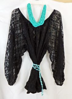 Cowgirl LACE Shirt Sexy Floral Lacey Relaxed fit Peasant Gypsy NWT Juniors 3X BLACK   our prices are WAY BELOW RETAIL! all JEWELRY SHIPS FREE! www.baharanchwesternwear.com baha ranch western wear ebay seller id soloedition
