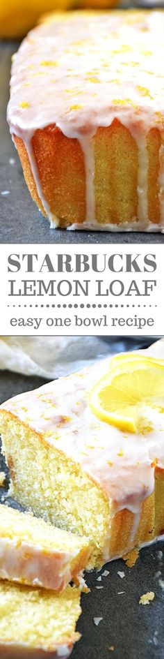 Now you can enjoy the deliciously tangy Starbucks Lemon Loaf for breakfast, snack, dessert, or anytime without even leaving the house and you'll save money too! This copycat cake recipe is easy to make and bursting with tangy lemon flavor. Perfect for Easter!