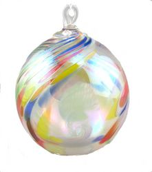 Clown Feather Ornament  GLASS EYE STUDIO  $26.00   Handblown glass ornament. Made in the USA. 3 1/2 inches