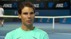 A short interview with Rafa before Wednesday's exhibition.