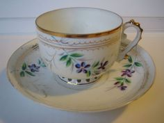 russian tea cup and saucer | RUSSIAN IMPERIAL KUZNETSOV PORCELAIN CUP AND SAUCER.