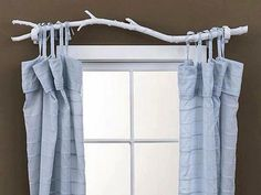 "It's free, it's natural and in my opinion, very attractive. My only concern is that you would need a ""neater"" branch, if you actually wanted to close the curtains. We have more simple decorating ideas for you at http://theownerbuildernetwork.com.au/simple-decorating-ideas/"
