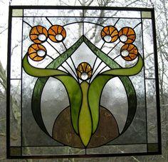 Art Nouveau Flowers $150.00, 15 by 15