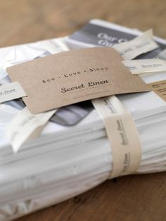 Secret linen store Packaging