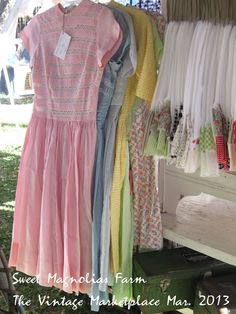 Sweet Magnolias Farm ... These adorable dresses are New -old stock. They have the original tags and are in perfect wearable condition. So spring time pretty!