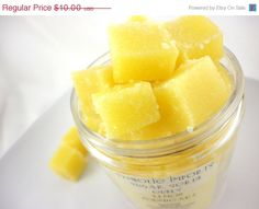 Sounds really yum!    CIJ SALE - 30% OFF - Lemon Poundcake Sugar Scrub Cubes 8 oz Jar. $7.00, via Etsy.