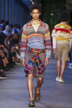 Missoni Fashion Show Mens Wear Collection Spring Summer 2017 in Milan