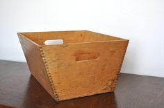 Large Vintage Dovetail Wooden Box with by BornAgainRestored, $35.00