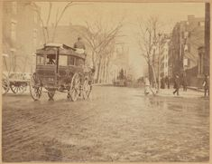 The Fifth Avenue Omnibus, circa 1890, a more elegant alternative to the dirty elevated train which ran just one avenue to the west.