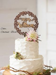 Mr & Mrs Wreath Cake Topper. Rustic wedding decor. Rustic cake topper. Wedding cake topper rustic. Cake topper rustic.  Mr & Mrs Wreath Wedding Cake Topper. are made from Birch Wood and it have thick 1/6 (4mm).  Rustic Wedding Cake Topper can be made in Chestnut-Birch,