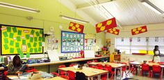 Fun and creative ideas for teaching english classroom design can classroom decoration ideas for primary school; Eric Carle, Reggio Emilia, Diy Classroom Decorations, Classroom Design, Classroom Walls, Math Classroom, Kindergarten Math, High School English, English Classroom