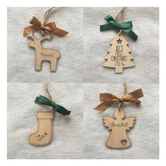 Personalised Christmas Decoration - Tree / Angel / Reindeer / Stocking - Handmade Sentiment Quoted Wooden