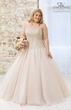 Glamour Plus Tulip: Tulle ballgown with beaded bodice