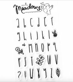 Courtney's Small Alpha Font Alphabet Stamp Set by Growing Meadows Bible Journaling Christian Stamps Scrapbooking Art Stamping Technique Tai Bender Journal Fonts, Bullet Journal Writing, Bullet Journal Ideas Pages, Hand Lettering Alphabet, Alphabet Stamps, Cute Fonts Alphabet, Alphabet Art, Lettering Styles, Brush Lettering
