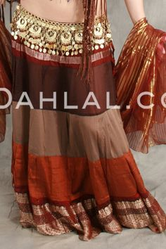 Dahlal Internationale Store - TIERED GRADIENT SKIRT OF VINTAGE SARI FABRIC, for Belly Dancing, $39.95 (http://www.dahlal.com/tiered-gradient-skirt-of-vintage-sari-fabric-for-belly-dancing/)