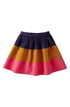 Mini Boden Colorblock Skirt (Little Girls
