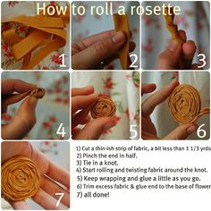 rolled rosette DIY by ME at marigold road