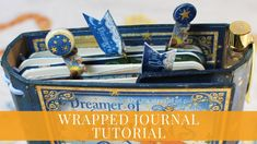 """- DIY Wrapped Journal By Teresa Cruz aka Andor Violeta """"We can never have too many planners or journals because we need them for so many purpos. Journal Covers, Art Journal Pages, Junk Journal, Art Journaling, Scrapbook Journal, Graphic 45, Bookbinding, Paper Clip, Mini Albums"""