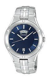 Seiko Men's Stainless Steel Bracelet watch : Three-hand Japanese Quartz movement displaying polished silver-tone hour, minute and sweep seconds hands, P Seiko Men, Halloween Sale, Stainless Steel Bracelet, Rolex Watches, Bracelet Watch, Quartz, Bracelets, Accessories, Bracelet