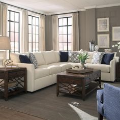 A beautiful 2-piece sectional from Trisha Yearwood's Home Collection. Elegant, comforatble and neutral, this is the perfect piece for your living room.