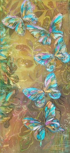 'Dance of the Butterflies' - a painting on silk by Loginova Svetlana Butterfly Painting, Butterfly Wallpaper, Butterfly Art, Silk Painting, Painting & Drawing, Beautiful Butterflies, Fractal Art, Animal Paintings, Wallpaper Backgrounds