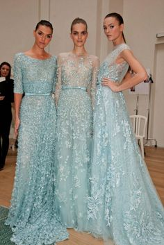 I just love Elie Saab gowns. Good for bridesmaids dresses