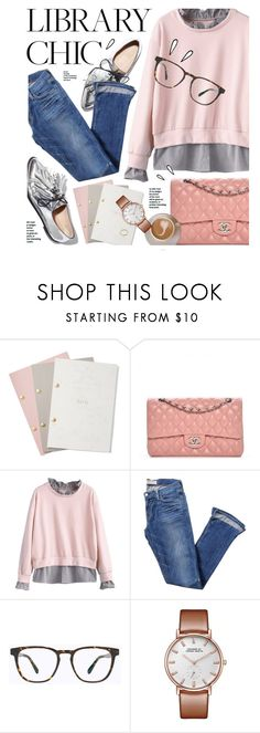 """Library Chic"" by monmondefou ❤ liked on Polyvore featuring StudioSarah, Chanel, Elizabeth and James, Mykita, Old Navy and finals"