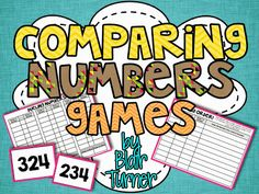 Comparing Numbers Games - FREE printables in this post!