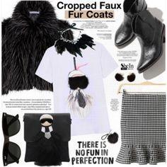 Cropped Faux Fur Coats