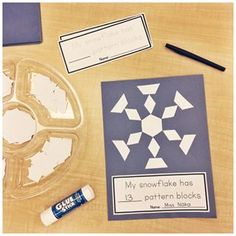 A Pinch of Kinder: Can you make a snowflake with pattern blocks? How many pattern blocks did you use? Combining creativity, shape identification, correspondence and numeral formation into one activity! Snow Theme, Winter Theme, Winter Art, Winter Ideas, Winter Activities, Kindergarten Activities, 2d Shapes Kindergarten, Morning Activities, Preschool Winter