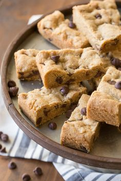 Peanut Butter Chocolate Chip Cookie Bars - perfect for when you need a soft, chewy cookie in a hurry.