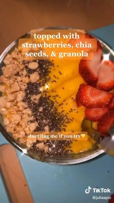 Fruit Smoothie Recipes, Smoothie Bowl, Healthy Smoothies, Healthy Drinks, Healthy Food, Fun Baking Recipes, Good Healthy Recipes, Cooking Recipes, Tasty