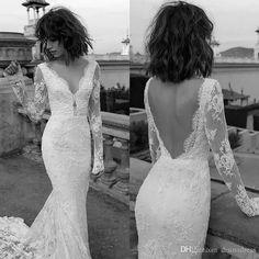 New Arrival Liz Martinez Wedding Dresses Sheer Long Sleeve Lace Bridal Dress Sexy Backless Boho Mermaid Wedding Gowns Strapless Wedding Dresses Summer Wedding Dresses From Disinadress, $134.13| Dhgate.Com