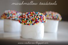 Marshmallow toadstools...!! Let's go find the fairy at home !!!