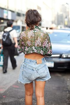 floral print cropped
