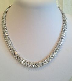 Vintage Diamond Collar Necklace. via Etsy.