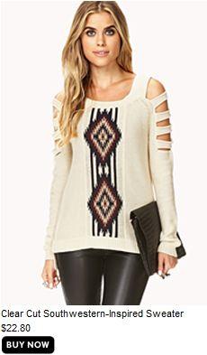 #f21 clear cut southwestern-indpired sweater