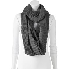 Apt. 9 Pleated Waffle Infinity Scarf, Size: One Size (Black) ($15) ❤ liked on Polyvore featuring accessories, scarves, black, loop scarves, black circle scarf, infinity scarves, lightweight infinity scarves e infinity loop scarf