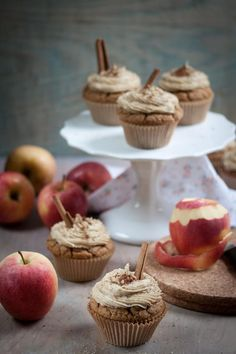 Apple Cider Cupcakes with Caramel Frosting