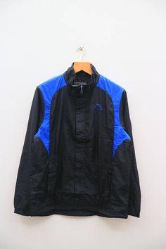 244041d7a9fe Vintage KAPPA Sportswear Black And Blue Zipper Windbreaker